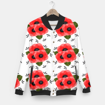 Thumbnail image of Fresh Summer Poppy Flowers Baseball Jacket, Live Heroes