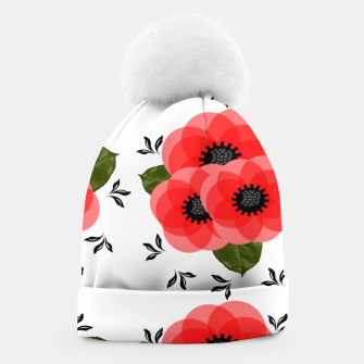 Thumbnail image of Fresh Summer Poppy Flowers Beanie, Live Heroes