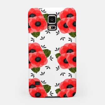 Thumbnail image of Fresh Summer Poppy Flowers Samsung Case, Live Heroes