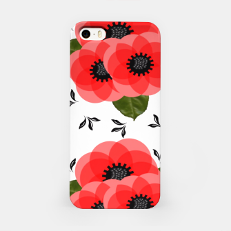 Thumbnail image of Fresh Summer Poppy Flowers iPhone Case, Live Heroes