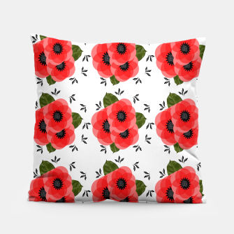 Thumbnail image of Fresh Summer Poppy Flowers Pillow, Live Heroes