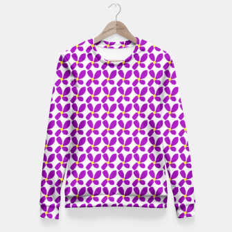 Thumbnail image of Ditsy Purple Floral Summer Print Fitted Waist Sweater, Live Heroes