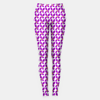 Thumbnail image of Ditsy Purple Floral Summer Print Leggings, Live Heroes