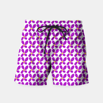 Thumbnail image of Ditsy Purple Floral Summer Print Swim Shorts, Live Heroes