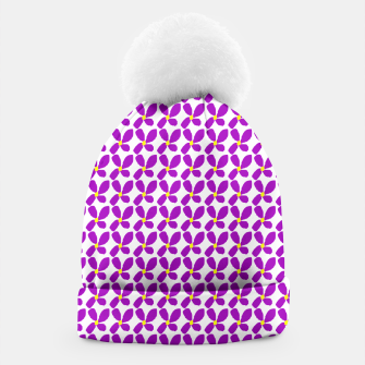 Thumbnail image of Ditsy Purple Floral Summer Print Beanie, Live Heroes
