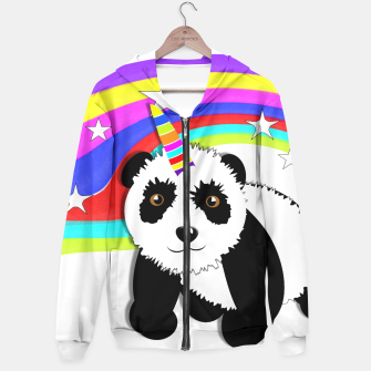 Thumbnail image of Fun Rainbow Fantasy Unicorn Panda Bear Hoodie, Live Heroes