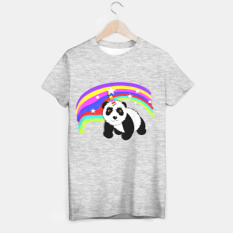 Thumbnail image of Fun Rainbow Fantasy Unicorn Panda Bear T-shirt, Live Heroes