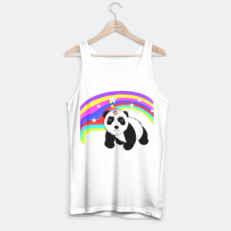 Thumbnail image of Fun Rainbow Fantasy Unicorn Panda Bear Tank Top, Live Heroes