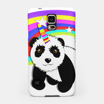 Thumbnail image of Fun Rainbow Fantasy Unicorn Panda Bear Samsung Case, Live Heroes