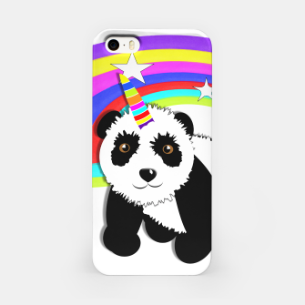 Thumbnail image of Fun Rainbow Fantasy Unicorn Panda Bear iPhone Case, Live Heroes