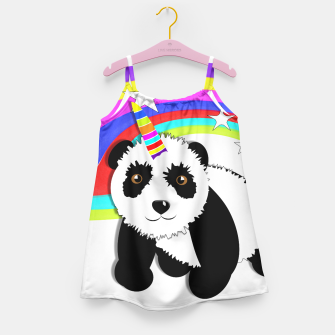 Thumbnail image of Fun Rainbow Fantasy Unicorn Panda Bear Girl's Dress, Live Heroes