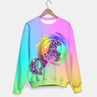 Thumbnail image of /Ombre Rainbow Fantasy Unicorn Sweater, Live Heroes