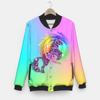 Thumbnail image of /Ombre Rainbow Fantasy Unicorn Baseball Jacket, Live Heroes