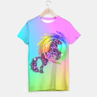 Thumbnail image of /Ombre Rainbow Fantasy Unicorn T-shirt, Live Heroes