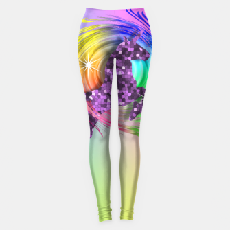 Thumbnail image of /Ombre Rainbow Fantasy Unicorn Leggings, Live Heroes