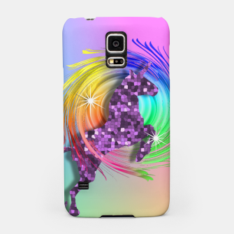 Thumbnail image of /Ombre Rainbow Fantasy Unicorn Samsung Case, Live Heroes