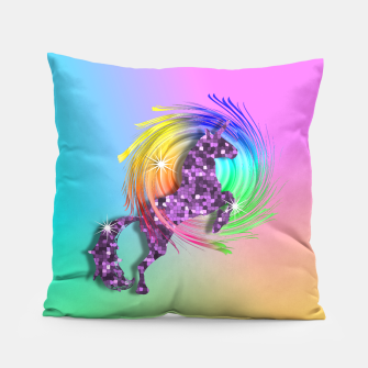 Thumbnail image of /Ombre Rainbow Fantasy Unicorn Pillow, Live Heroes