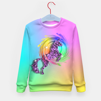 Thumbnail image of /Ombre Rainbow Fantasy Unicorn Kid's Sweater, Live Heroes