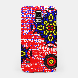 Thumbnail image of Bold Fancy Blue Red Mix Pattern Samsung Case, Live Heroes