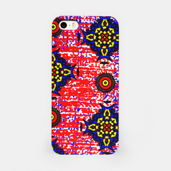 Thumbnail image of Bold Fancy Blue Red Mix Pattern iPhone Case, Live Heroes