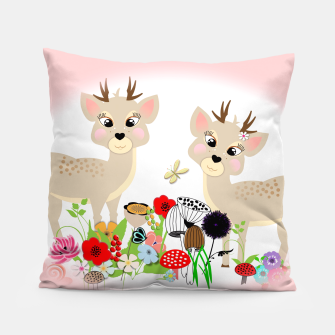 Thumbnail image of Cute Baby Deer Kids Whimsy Animals Pillow, Live Heroes