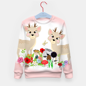 Thumbnail image of Cute Baby Deer Kids Whimsy Animals Kid's Sweater, Live Heroes