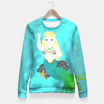 Thumbnail image of Pretty Mythical Mermaids Fitted Waist Sweater, Live Heroes