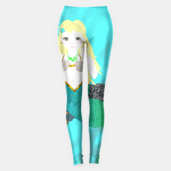 Thumbnail image of Pretty Mythical Mermaids Leggings, Live Heroes