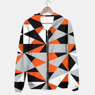 Thumbnail image of Funky Geometric Orange Grey Mixed Print Hoodie, Live Heroes