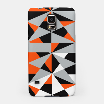 Thumbnail image of Funky Geometric Orange Grey Mixed Print Samsung Case, Live Heroes