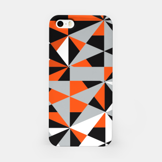 Thumbnail image of Funky Geometric Orange Grey Mixed Print iPhone Case, Live Heroes