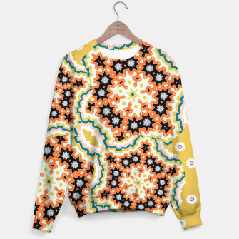 Thumbnail image of Stylish Floral Patterned Olive Green Orange Mix Sweater, Live Heroes