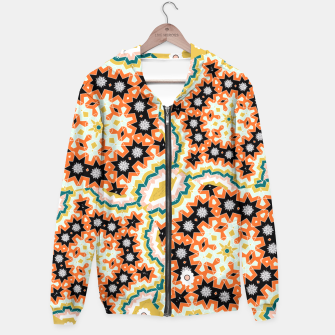 Thumbnail image of Stylish Floral Patterned Olive Green Orange Mix Hoodie, Live Heroes