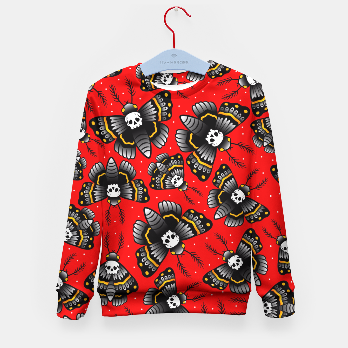 Image of Death Moth Kid's Sweater - Live Heroes