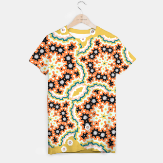 Thumbnail image of Stylish Floral Patterned Olive Green Orange Mix T-shirt, Live Heroes