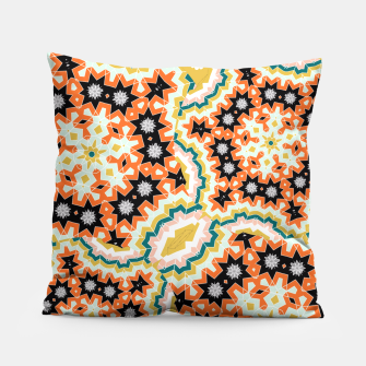 Thumbnail image of Stylish Floral Patterned Olive Green Orange Mix Pillow, Live Heroes