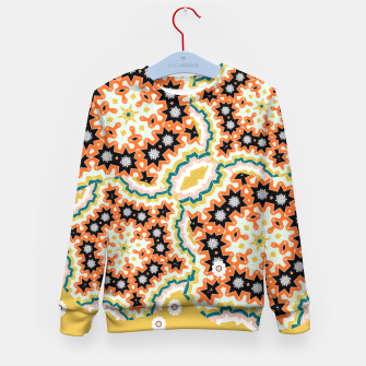 Thumbnail image of Stylish Floral Patterned Olive Green Orange Mix Kid's Sweater, Live Heroes