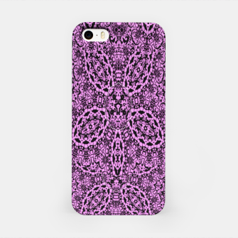Thumbnail image of Purple Black Vintage Floral Damask Print iPhone Case, Live Heroes