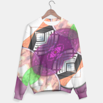 Thumbnail image of Stylish Textured Effect Pattern Purple Orang Green Mix Sweater, Live Heroes