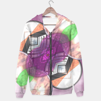 Thumbnail image of Stylish Textured Effect Pattern Purple Orang Green Mix Hoodie, Live Heroes