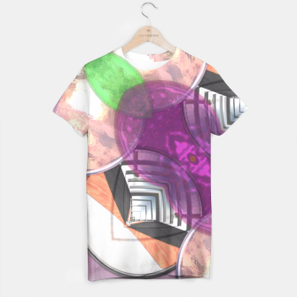 Thumbnail image of Stylish Textured Effect Pattern Purple Orang Green Mix T-shirt, Live Heroes