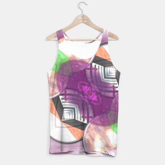 Thumbnail image of Stylish Textured Effect Pattern Purple Orang Green Mix Tank Top, Live Heroes
