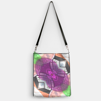 Thumbnail image of Stylish Textured Effect Pattern Purple Orang Green Mix Handbag, Live Heroes