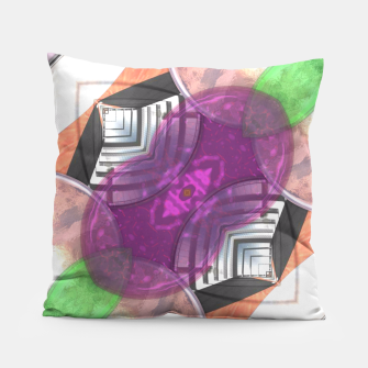 Thumbnail image of Stylish Textured Effect Pattern Purple Orang Green Mix Pillow, Live Heroes