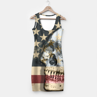 Thumbnail image of American Stars Stripes Flag Skull  Simple Dress, Live Heroes