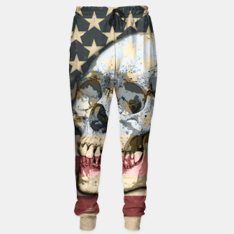 Thumbnail image of American Stars Stripes Flag Skull  Sweatpants, Live Heroes