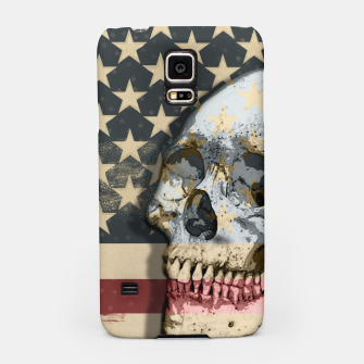 Thumbnail image of American Stars Stripes Flag Skull  Samsung Case, Live Heroes
