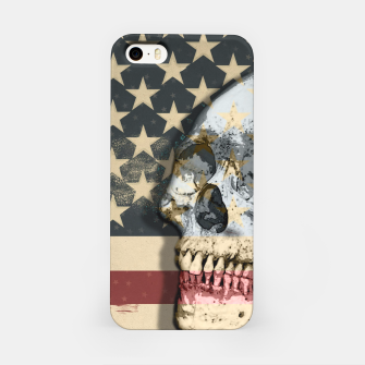 Thumbnail image of American Stars Stripes Flag Skull  iPhone Case, Live Heroes