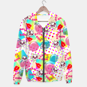 Thumbnail image of Fun Funky Bubble Gum Comic Pop Art  Hoodie, Live Heroes