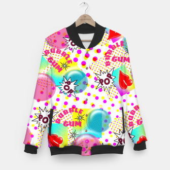 Thumbnail image of Fun Funky Bubble Gum Comic Pop Art  Baseball Jacket, Live Heroes